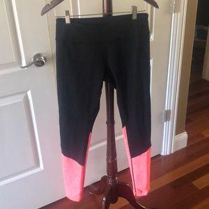 Zella Yoga Leggings Black Orange Sz M